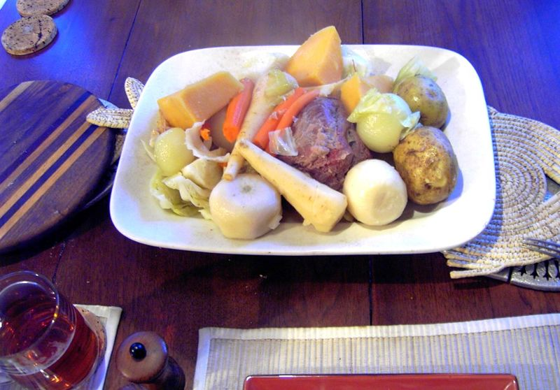 New England Boiled Dinner - photo by Dumarest under GFDL and CC-BY-SA-3.0-migrated