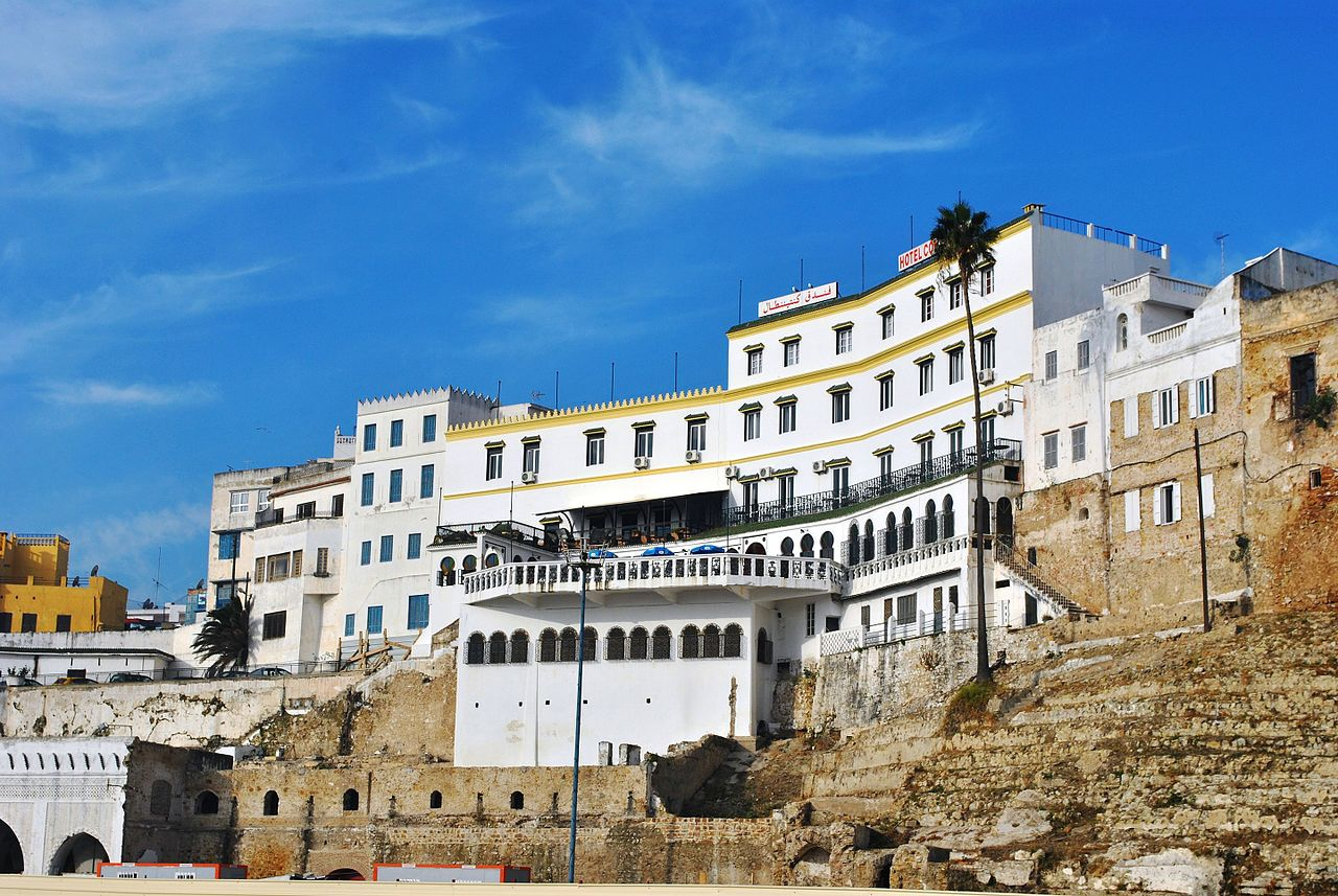 Hotel Continental in Tangier, Morocco - photo by Elisa.rolle under CC-BY-SA-4.0
