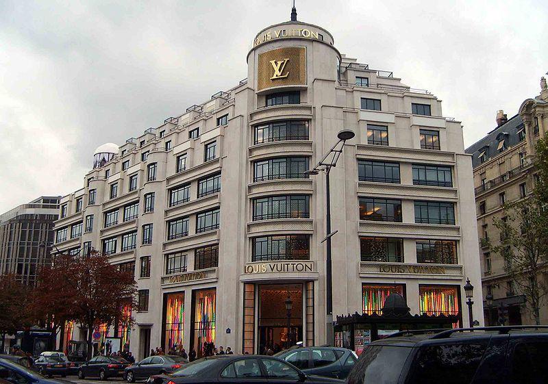 three days in Paris - The Louis Vuitton flagship store on Champs-Élysées - photo by Nick Gordon under Public Domain