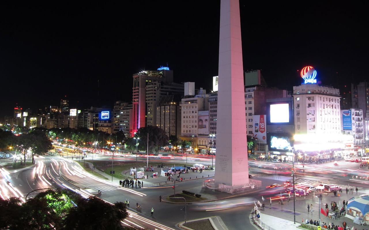 Night Cityscape in Buenos Aires, Argentina - photo from pikrepo.com under CC0 1.0