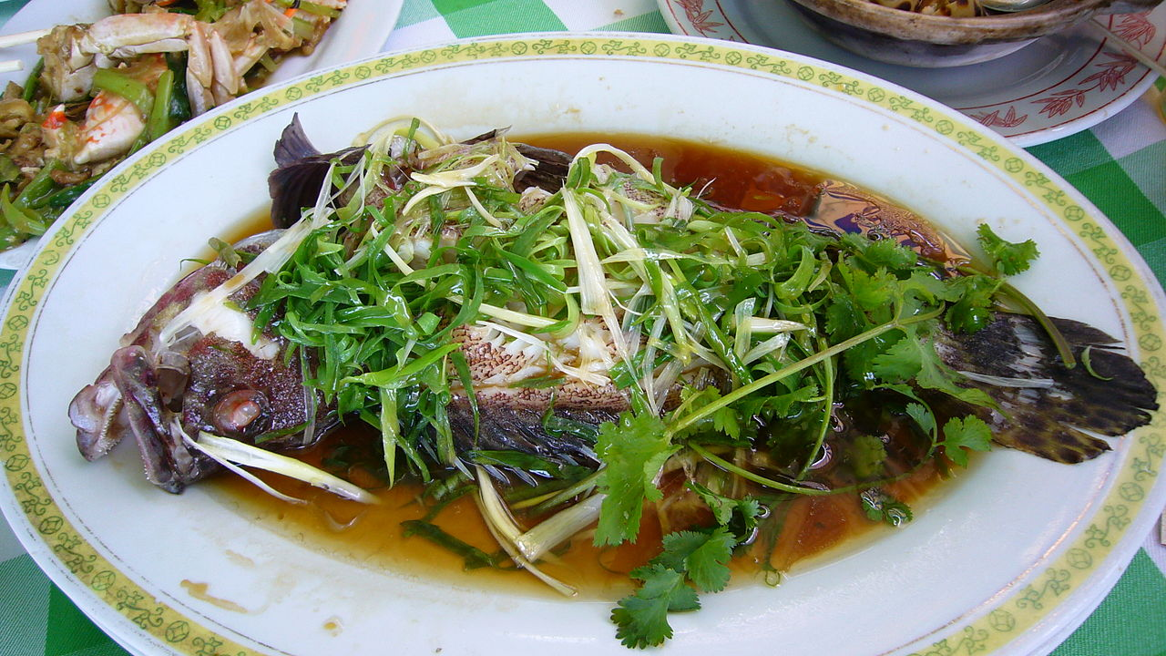 Steamed Grouper - photo by Kent Wong under CC-BY-SA-2.0