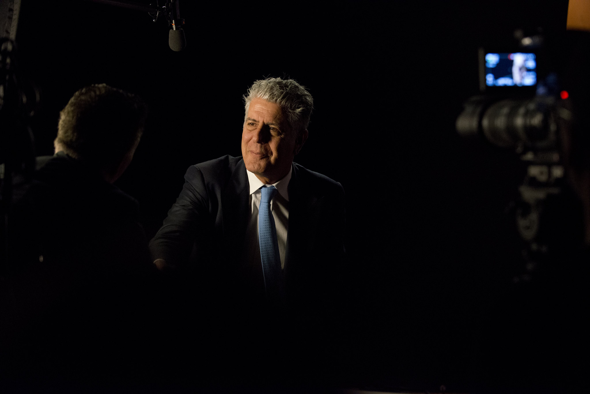 "Anthony Bourdain during the Peabody interview for ""Parts Unknown."" - photo by Peabody Awards under CC BY 2.0"