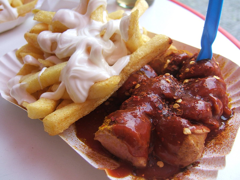 Anthony Bourdain Cologne - Currywurst with Pommes Frittes - photo by WordRidden under CC BY 2.0