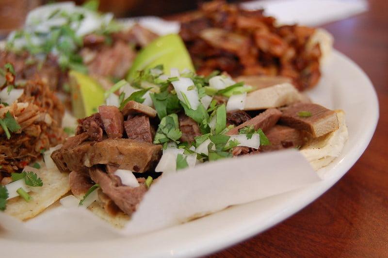 Anthony Bourdain New Mexico - Lengua Taco - photo by stu_spivack under CC BY-SA 2.0