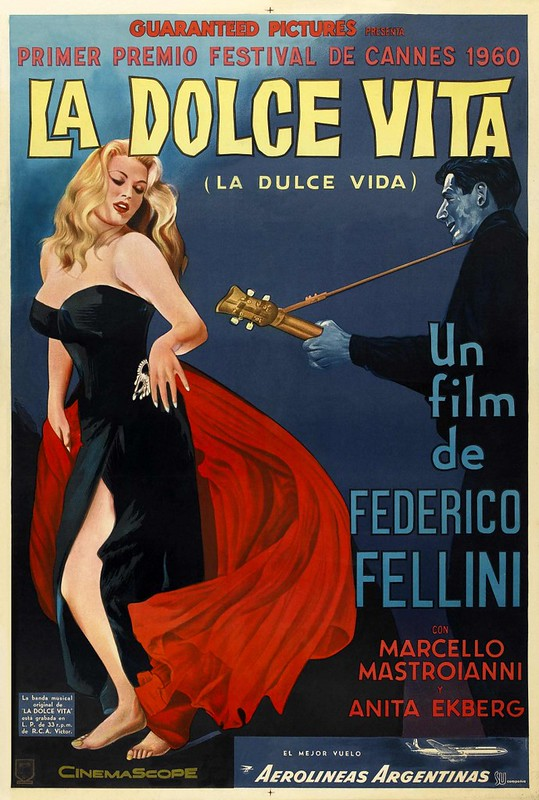 Bourdain's favourite movies - La Dolce Vita - photo by Flicks: Foreign Cinema under Public Domain Mark 1.0