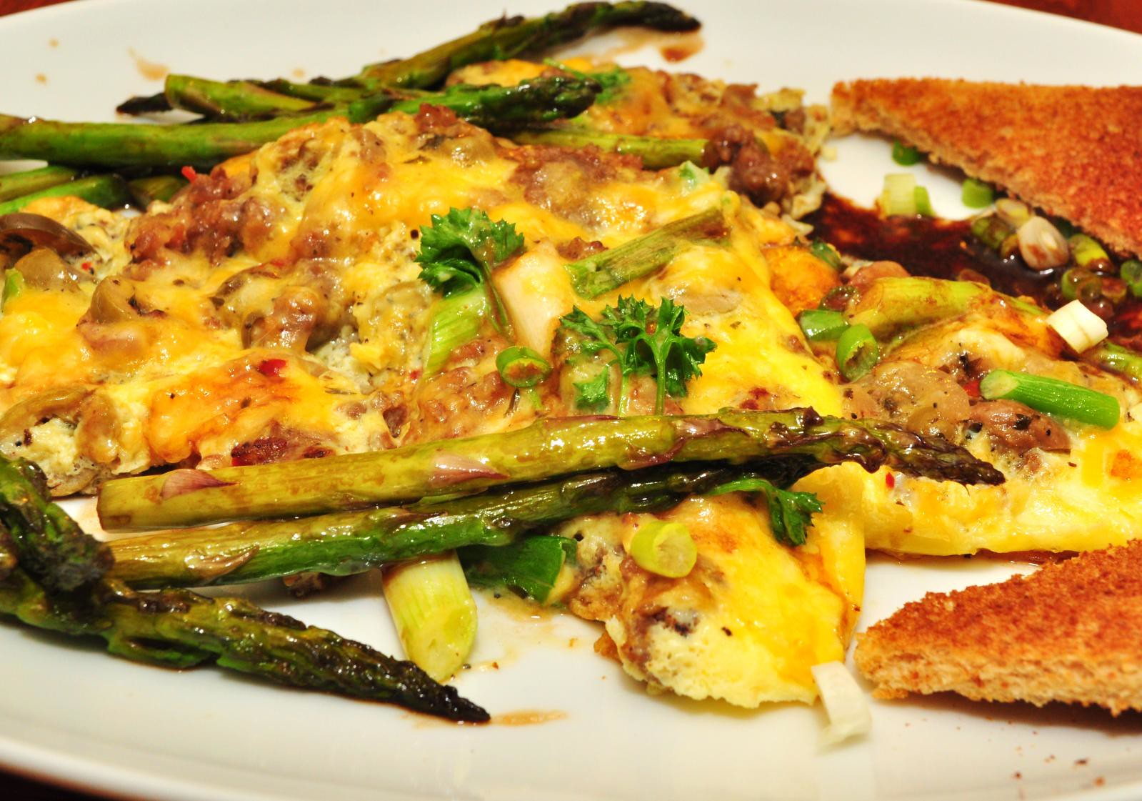 Asparagus and Mushroom Omelet - photo by jeffreyw under CC BY 2.0