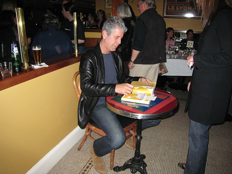 Books by Anthony Bourdain - Anthony Bourdain during a book signing - photo by Neeta Lind under CC-BY-2.0