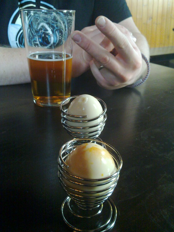 Pickled Eggs - photo by bob walker under CC BY-SA 2.0