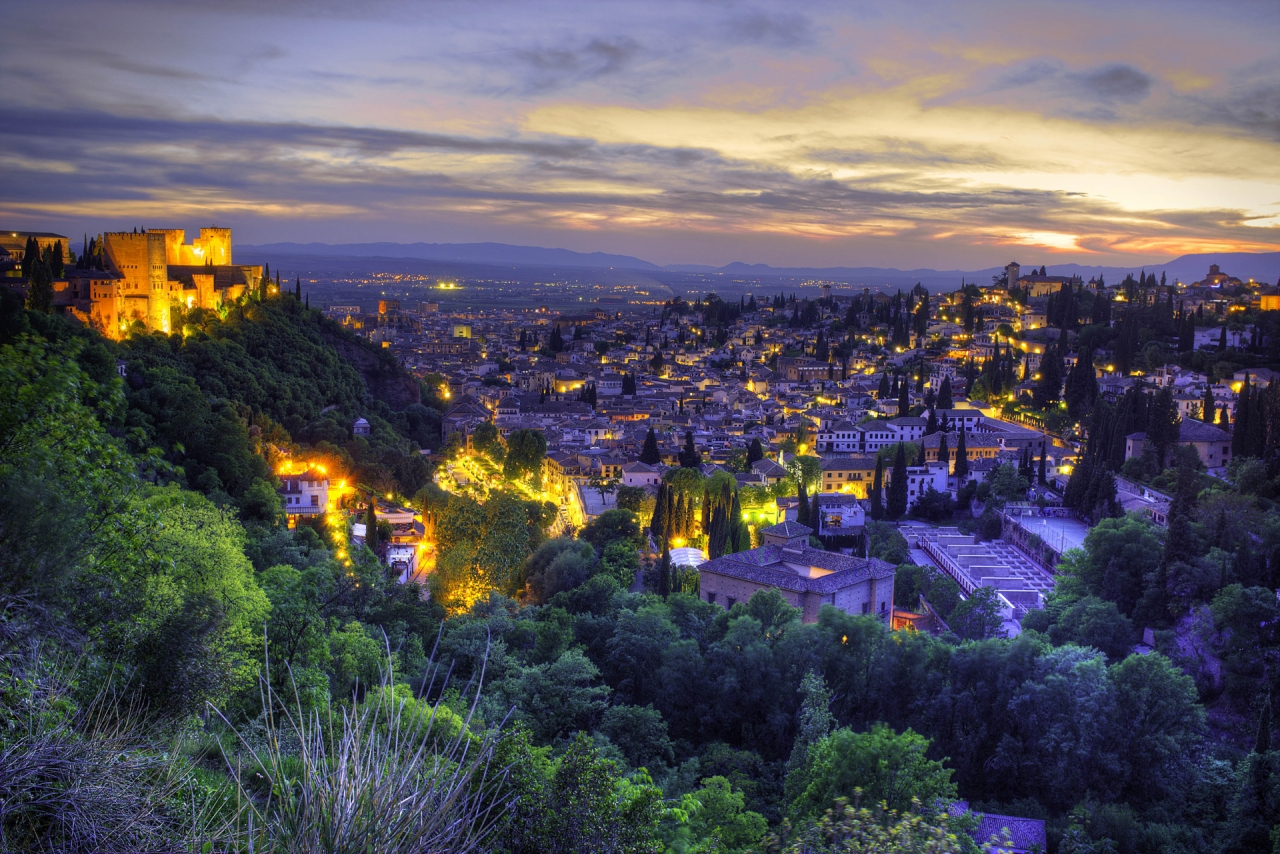 Panorama of Granada, Andalusia, Spain - photo from https://fshoq.com under CC BY 4.0