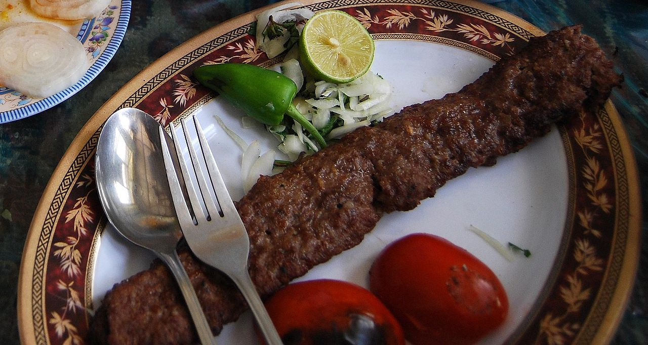 Iranian Koobideh Kabab - photo by Vathlu under GFDL and CC BY-SA 3.0