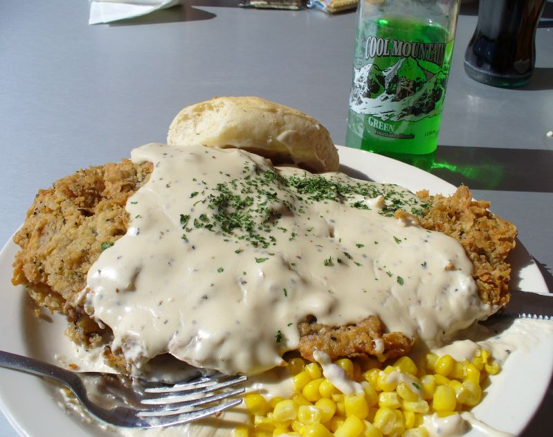 No Reservations US-Mexico Border - Chicken Fried Steak - photo by Kevin under CC BY 2.0