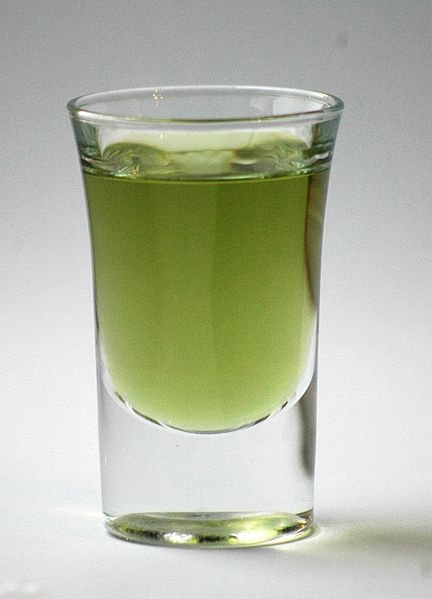 The Layover Seattle - A shot glass of green Chartreuse - photo by Ospalh under CC-BY-SA-3.0 and GFDL