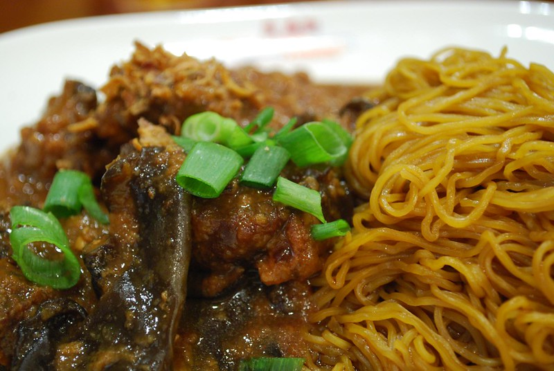 Dry Egg Noodles with Pork Belly - photo by Alpha under CC BY-SA 2.0