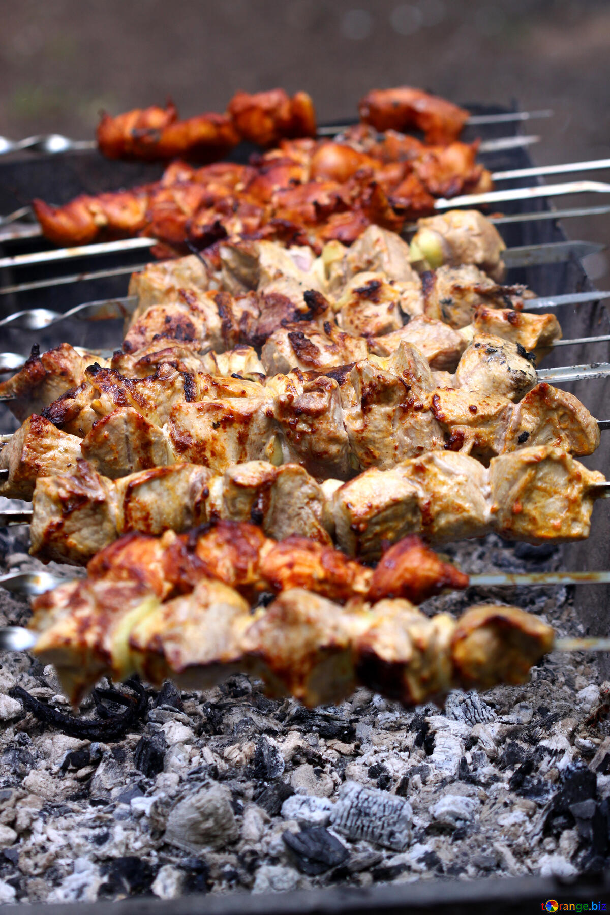 Anthony Bourdain Kolkata and Mumbai - Preparation of kebabs on the grill - photo from ©torange.biz under CC BY 4.0
